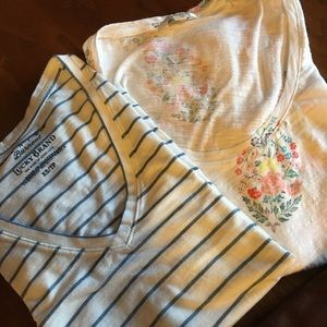 Two Lucky Brand T's